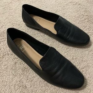 Gap Leather Black Pointed Loafers